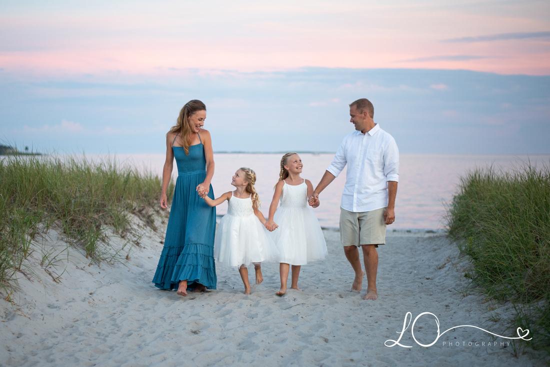 Pine Point Beach, Beach Family Portraits, Sunset Beach Photography, Maine Family Photographer, Maine Beach Photographer